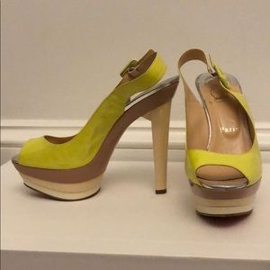 Louboutin peep toe pumps- rare color combo